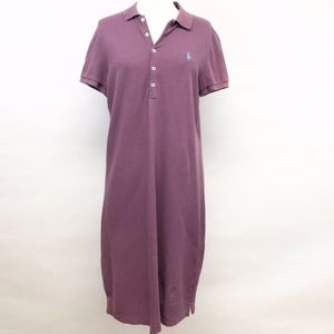 ralph lauren   purple polo shirt preppy dress sz L